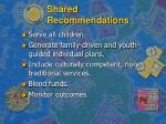 shared recommendations