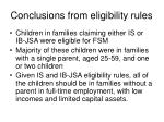 conclusions from eligibility rules