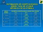 estimacion de hospitalizados seg n tasa de ataque republica de guatemala