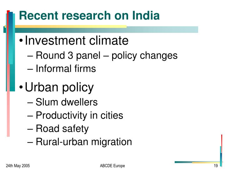 Recent research on India