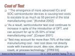 cost of test