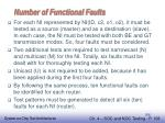 number of functional faults