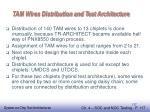 tam wires distribution and test architecture