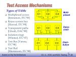 test access mechanisms