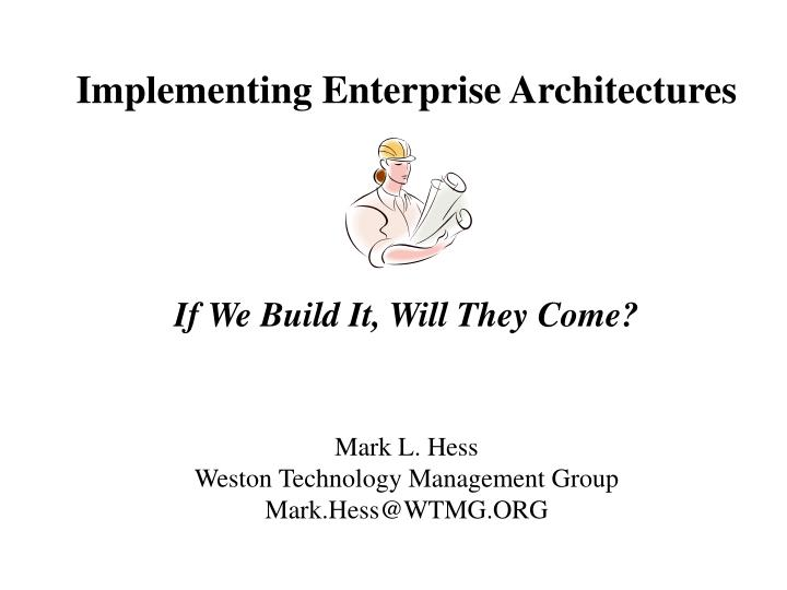 implementing enterprise architectures n.