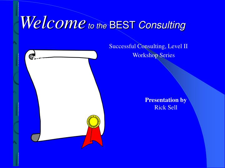 welcome to the best consulting n.