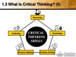 1 3 what is critical thinking 5