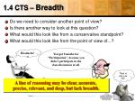 1 4 cts breadth