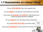 1 7 characteristics of a critical thinker