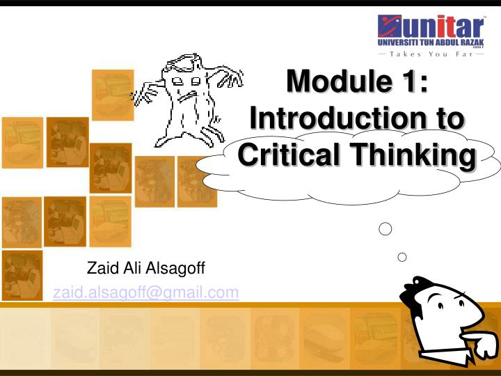 module 1 introduction to critical thinking n.