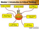 module 1 introduction to critical thinking1