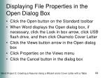 displaying file properties in the open dialog box
