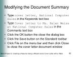modifying the document summary1