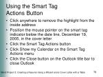 using the smart tag actions button