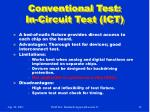 conventional test in circuit test ict