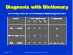 diagnosis with dictionary