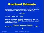 overhead estimate