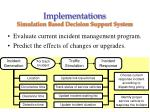 implementations simulation based decision support system