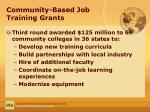 community based job training grants