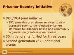 prisoner reentry initiative