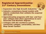 registered apprenticeship 21 st century innovations