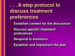 8 step protocol to discuss treatment preferences1