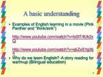 a basic understanding