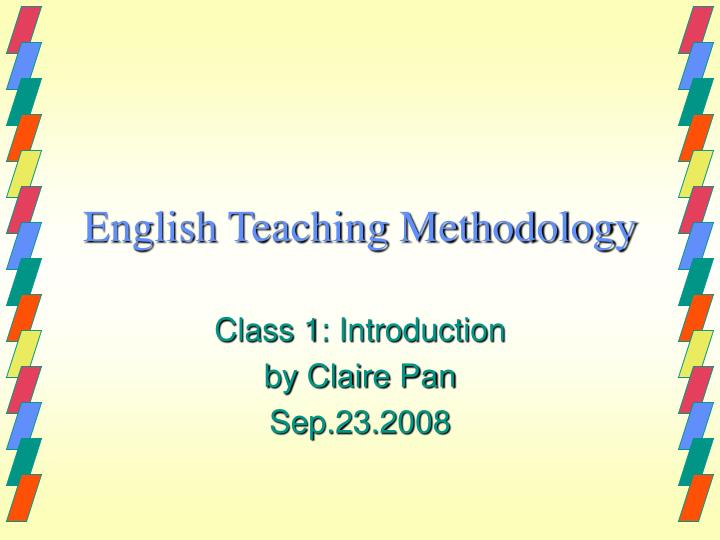 english teaching methodology n.
