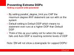 preventing extreme dops setting a system wide parameter
