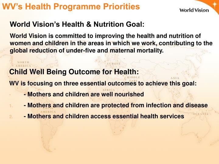 WV's Health Programme Priorities