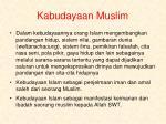 kabudayaan muslim