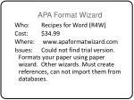 apa format wizard