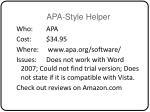 apa style helper