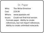 dr paper