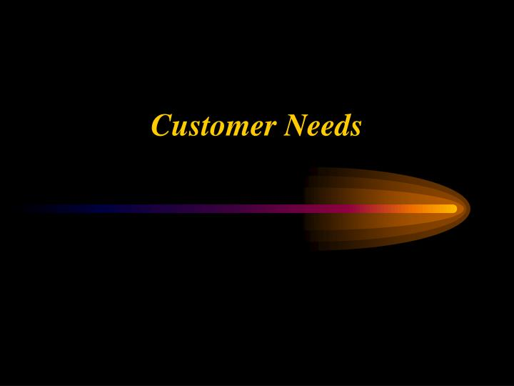 customer needs n.
