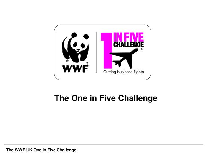 the one in five challenge n.