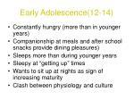 early adolescence 12 142