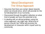 moral development the virtue approach