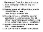 universal credit simplification