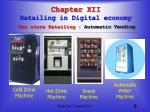 chapter xii retailing in digital economy non store retailing automatic vending