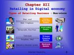 chapter xii retailing in digital economy types of retailing business non store1