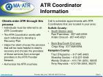 atr coordinator information