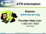atr information
