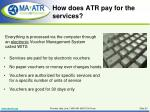 how does atr pay for the services