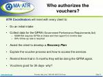 who authorizes the vouchers