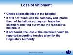 loss of shipment