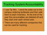 tracking system accountability