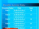possible activity paths