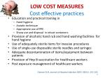 low cost measures cost effective practices