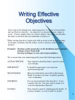 writing effective objectives